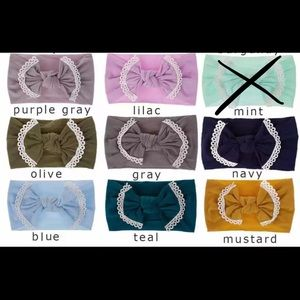 4 Nylon Lace Trimmed Bows for $25!